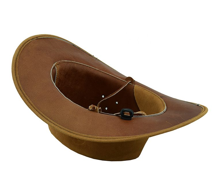 Cowboy Western Aussie Style Tan Brown Suede Bush Leather Hat