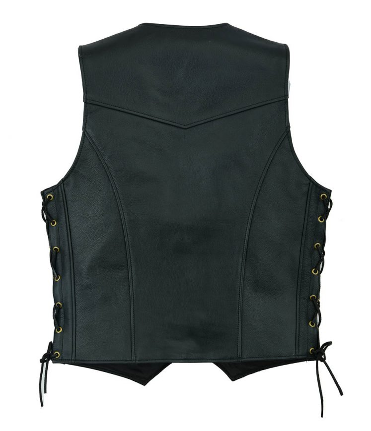 Genuine Leather Gillet Black